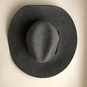 Brixton grey wide rim floppy hat